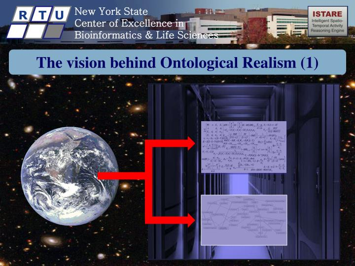 The vision behind ontological realism 1