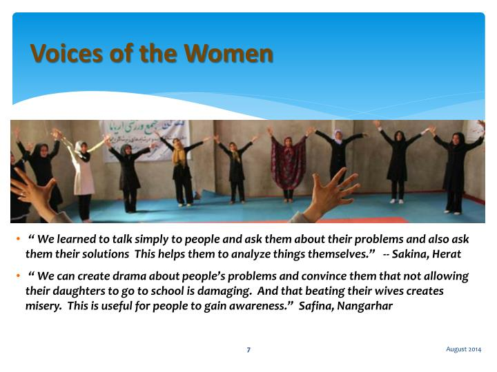 Voices of the Women