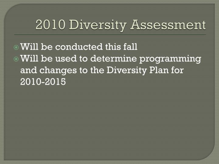 2010 Diversity Assessment