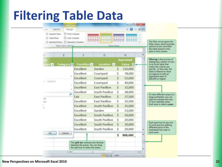 Filtering Table Data