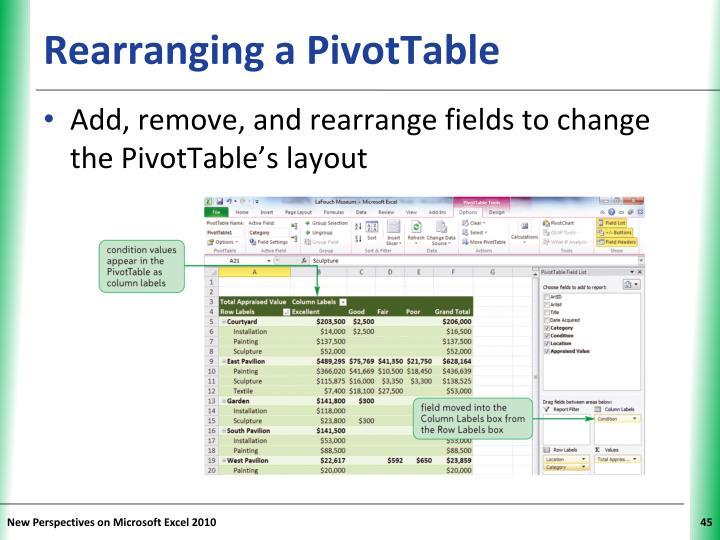 Rearranging a PivotTable