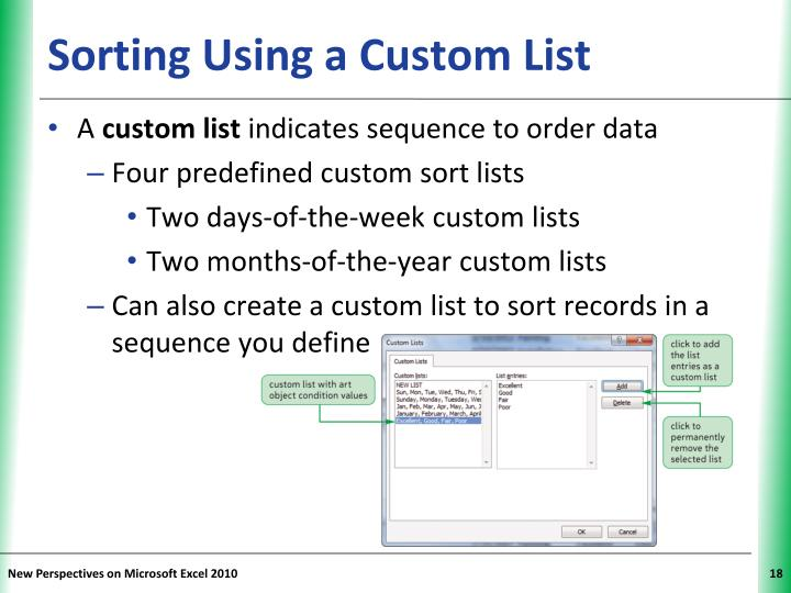 Sorting Using a Custom List