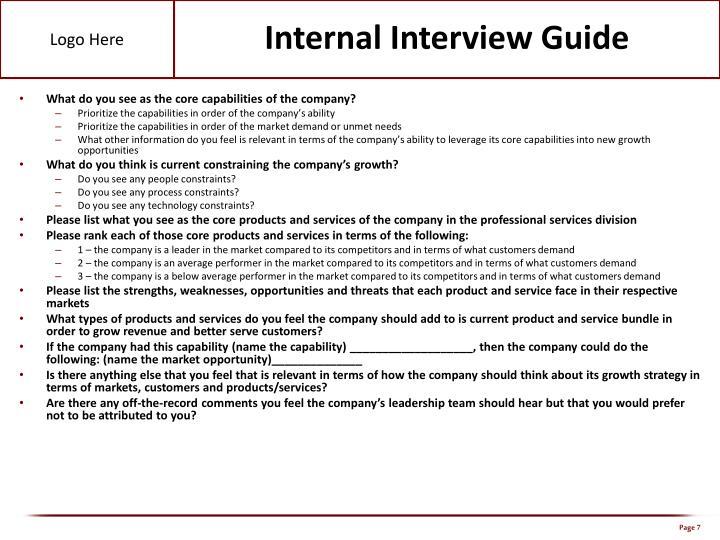 Internal Interview Guide