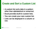 create and sort a custom list