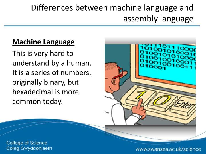 Differences between machine language and assembly language