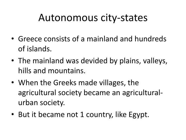 Autonomous city states