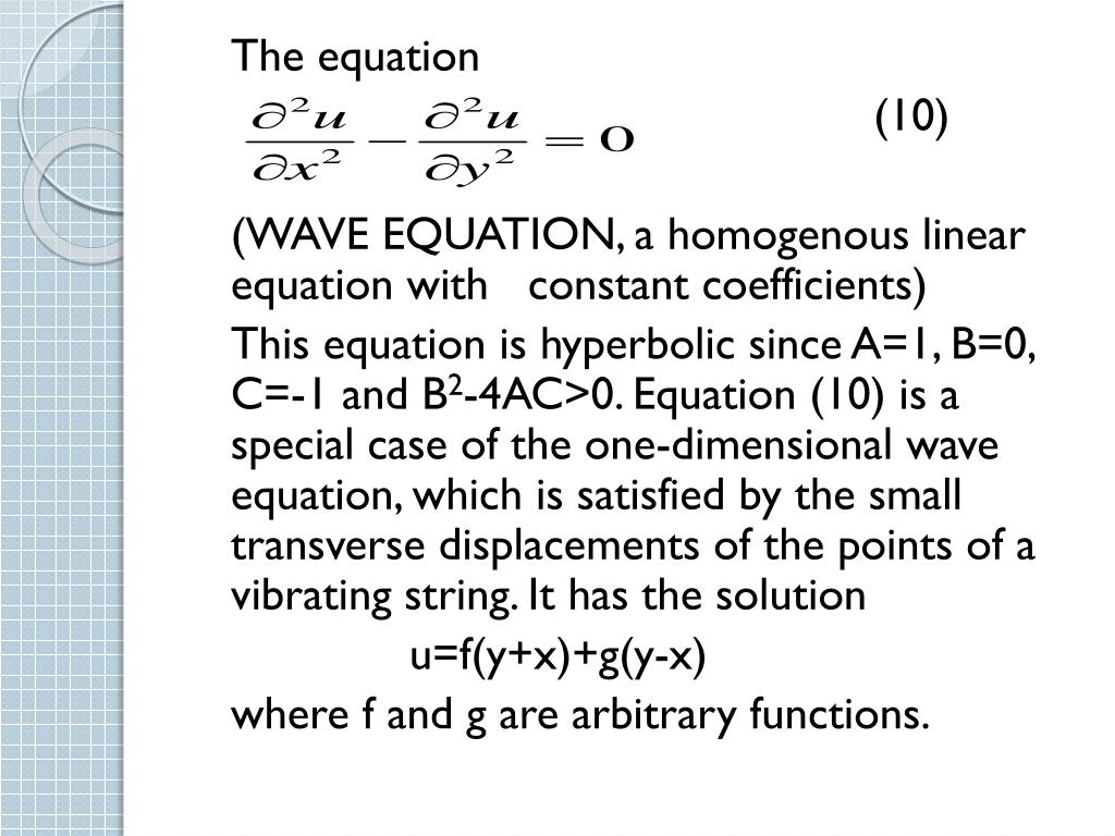 PPT - PARTIAL DIFFERENTIAL EQUATIONS PowerPoint Presentation - ID