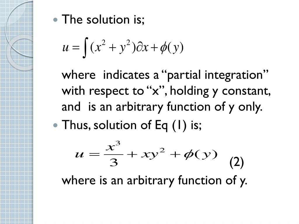Ppt Partial Differential Equations Powerpoint