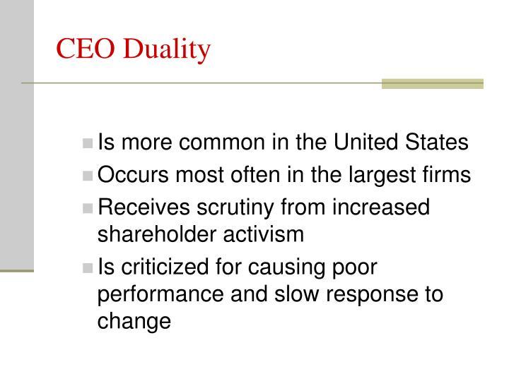 CEO Duality