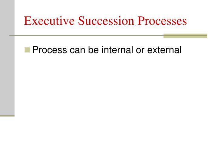 Executive Succession Processes
