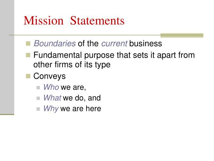 Mission  Statements
