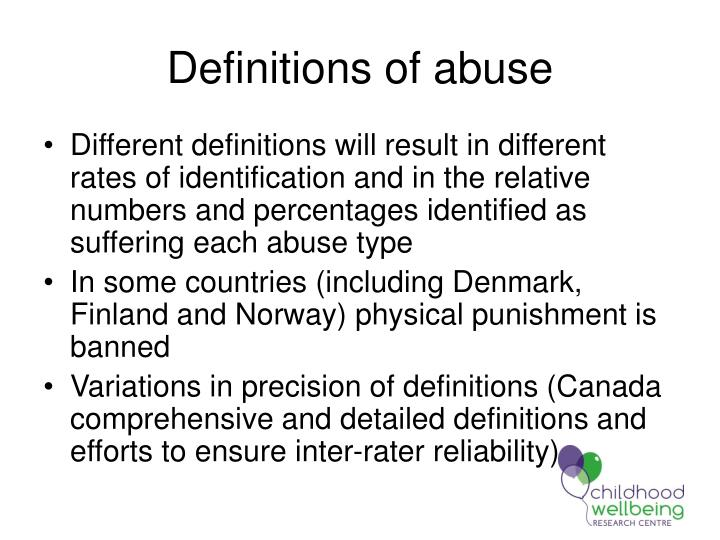Definitions of abuse