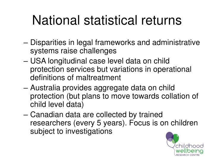 National statistical returns