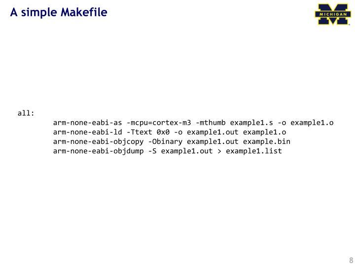 A simple Makefile