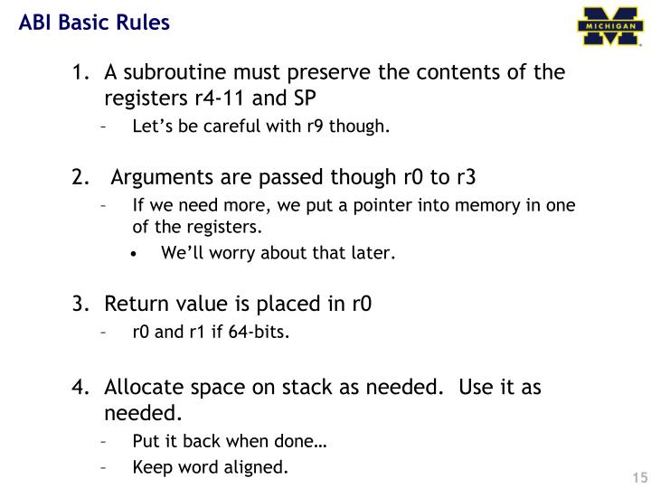 ABI Basic Rules