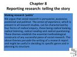 chapter 8 reporting research telling the story