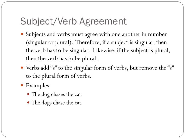 Ppt Subjectverb Agreement Powerpoint Presentation Id2511885