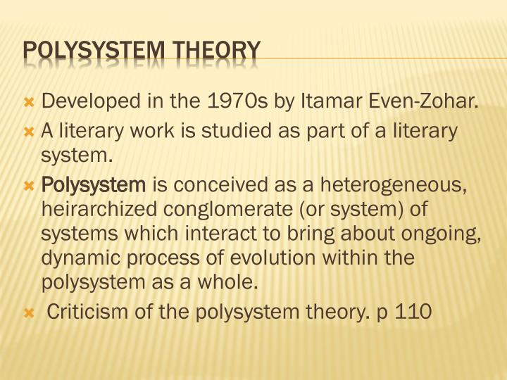 examples of polysystem theory