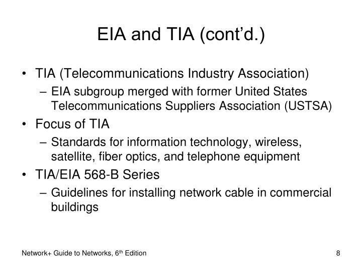 EIA and TIA (cont'd.)
