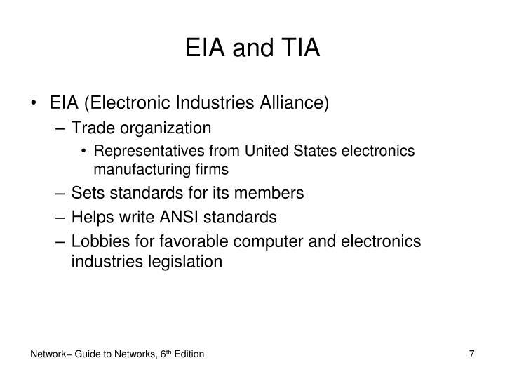 EIA and TIA