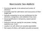 narcissistic sex addicts