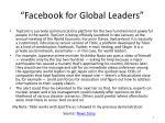 facebook for global leaders