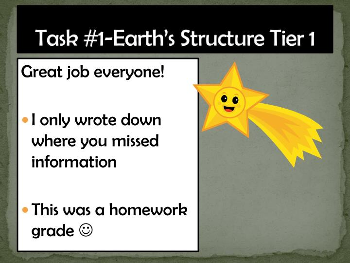 Task #1-Earth's Structure Tier 1