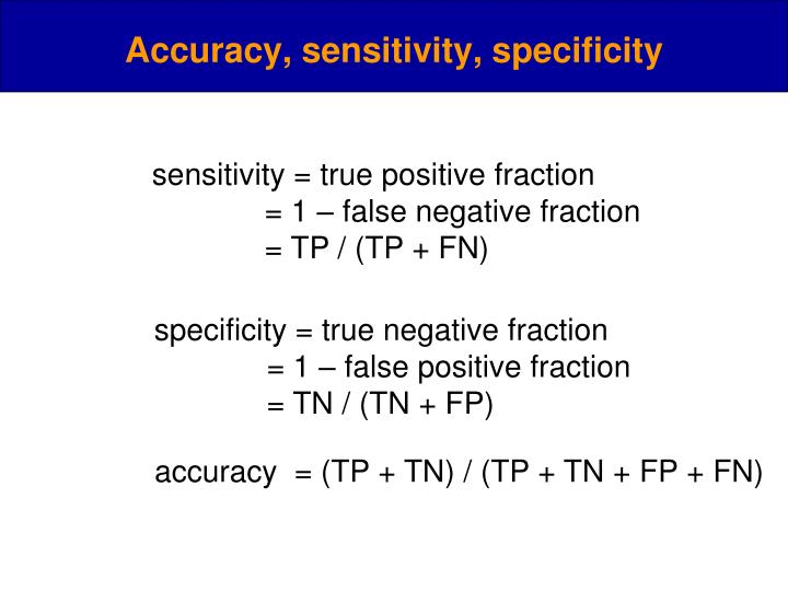 sensitivity = true positive fraction