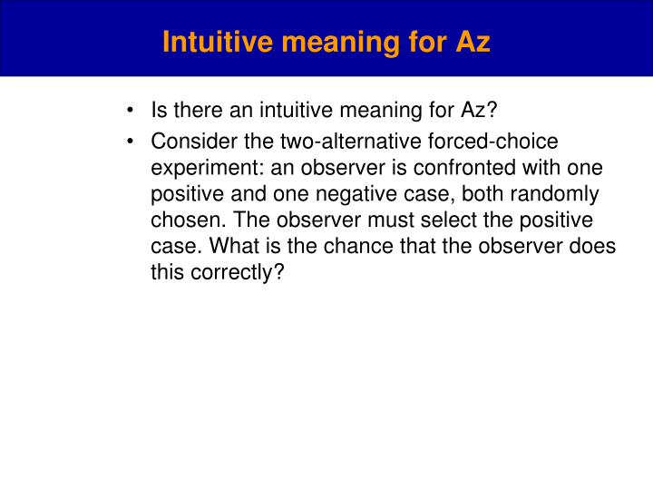 Intuitive meaning for Az