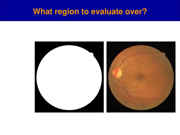 What region to evaluate over?