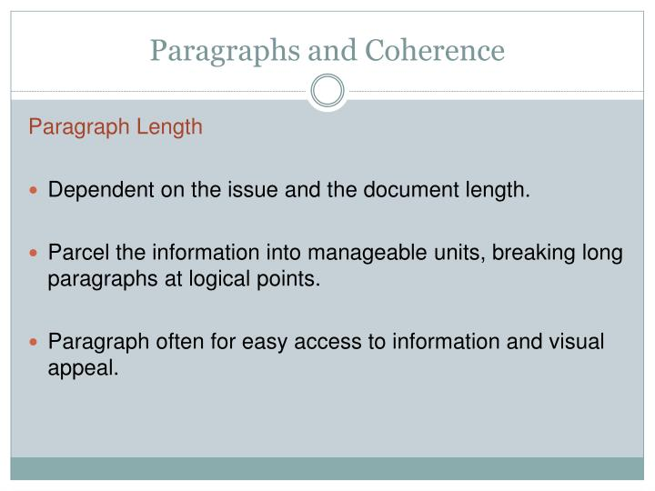 Paragraphs and coherence1