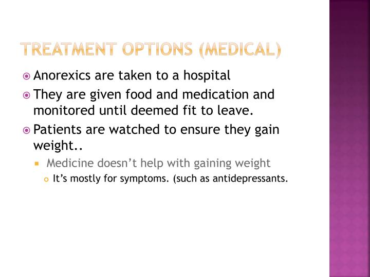 Treatment options (Medical)