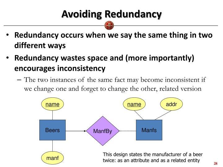 Avoiding Redundancy