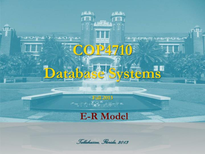 Cop4710 database systems