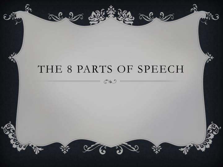 the 8 parts of speech n.
