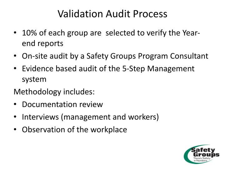 Validation audit process