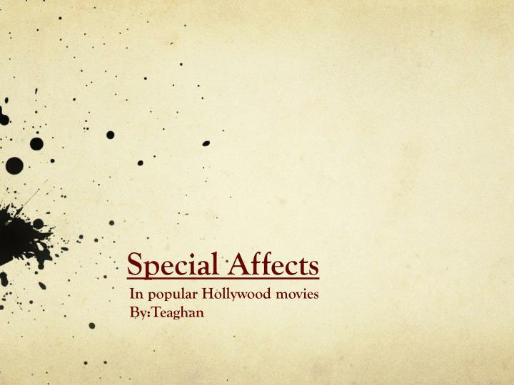 special affects n.