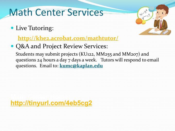Math Center Services