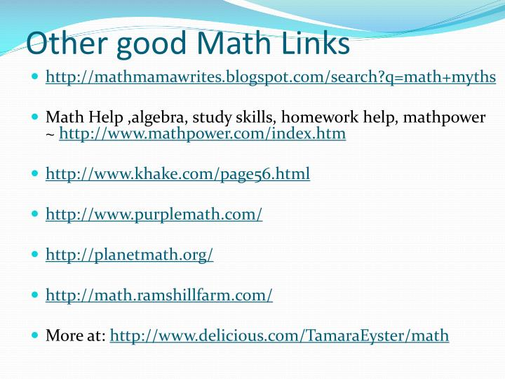 Other good Math Links