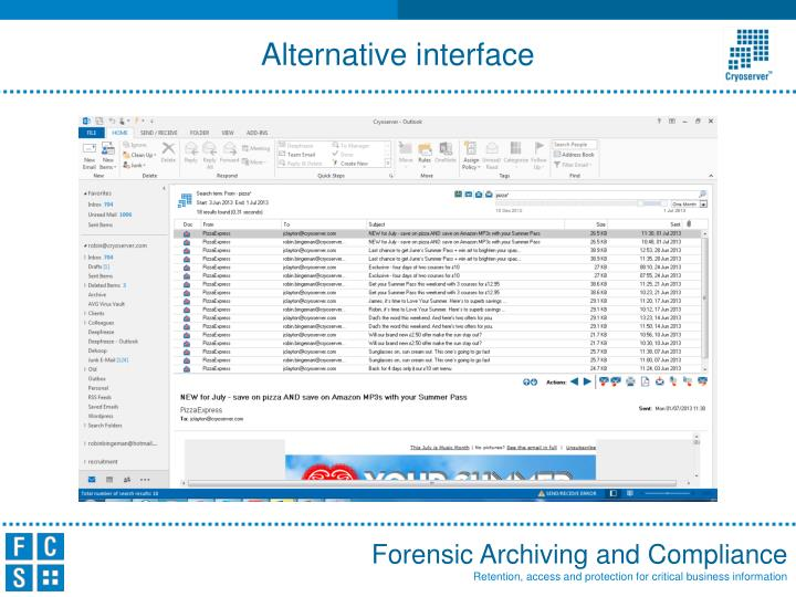 Alternative interface
