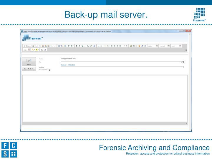 Back-up mail server.