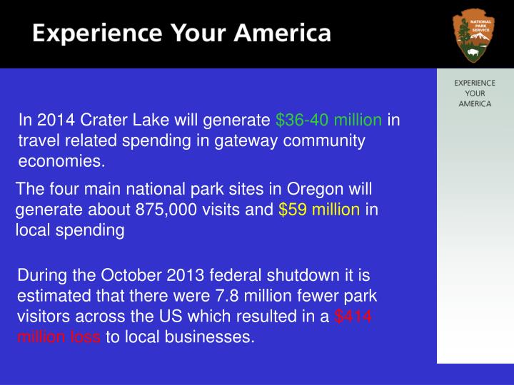 In 2014 Crater Lake will generate