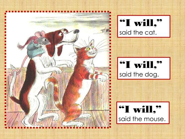 """""""I will,"""""""