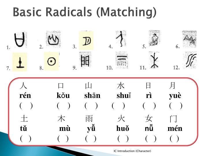 Basic Radicals (Matching)