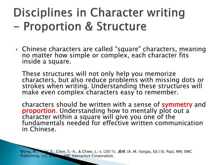 Disciplines in Character