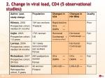 2 change in viral load cd4 5 observational studies