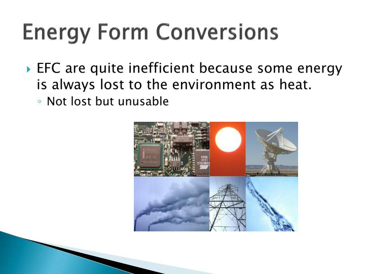 Energy Form Conversions