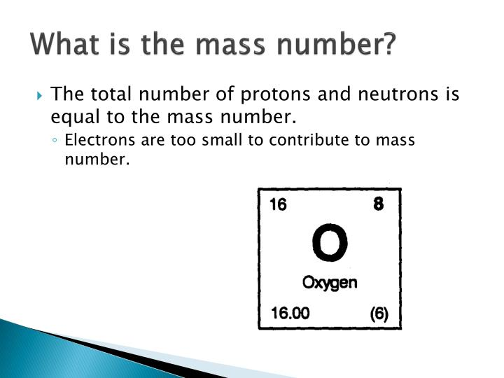 What is the mass number?