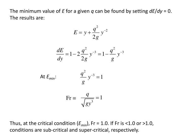 The minimum value of
