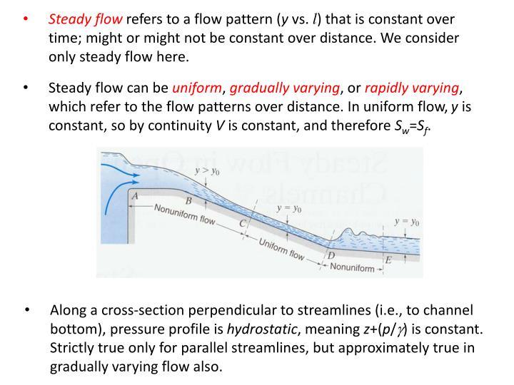 Steady flow